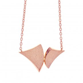 Necklace in silver 925 pink gold plated - Kyma