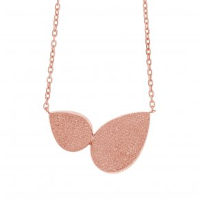Necklace in silver 925, pink gold plated - Kyma