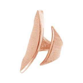Ring Silver 925 pink gold plated - Kyma