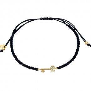 Bracelet in silver 925, gold plated with white zirconia - Sirens