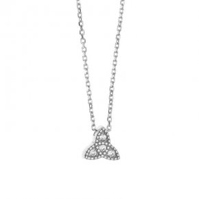 Necklace in silver 925 rhodium plated with white zirconia - Mitos