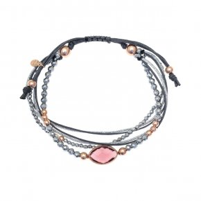 Bracelet in silver 925, pink gold plated with white zirconia - aperitto