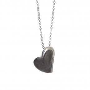 Necklace in silver 925 black and white rhodium plated - METALLO