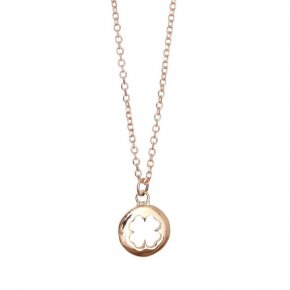 Necklace in pink gold 14 carats - ETERNAL