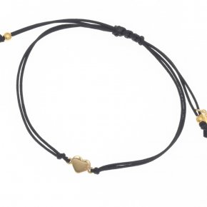 Cord Bracelet in silver 925, gold plated - Sirens
