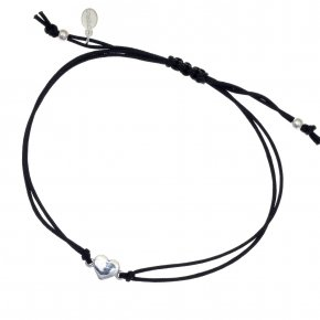 Cord Bracelet in silver 925, rhodium plated - Sirens