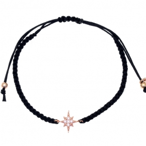 Bracelet in silver 925, pink gold plated with white zirconia - Sirens
