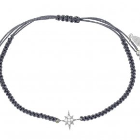 Bracelet in silver 925, rhodium plated with white zirconia - Sirens