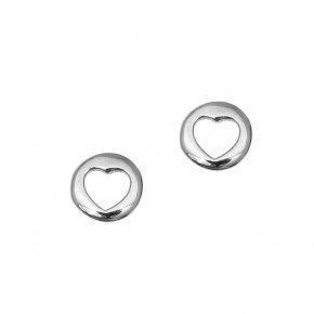Earrings in white gold 14 carats - ETERNAL