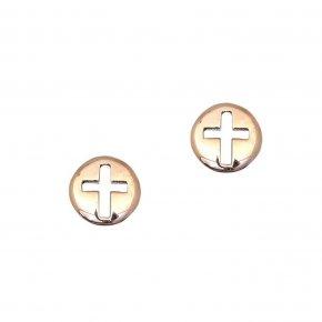 Earrings in pink gold 14 carats - ETERNAL