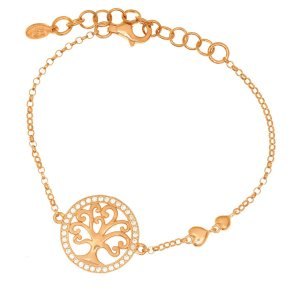 Bracelet in silver 925 yellow gold plated with white zirconia - Zoe