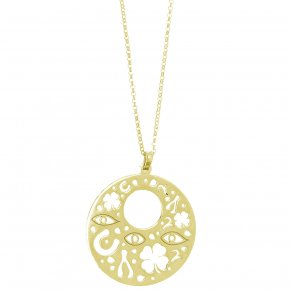 Necklace in silver 925 yellow gold plated - Fos
