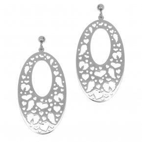 Earrings in silver 925 rhodium plated - Fos