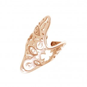 Ring Silver 925 pink gold plated - Fos