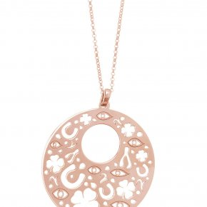 Necklace in silver 925 pink gold plated - Fos