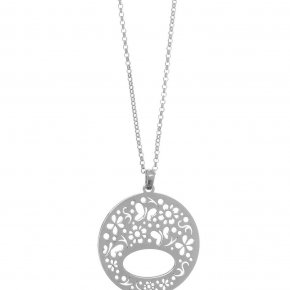 Necklace in silver 925 rhodium plated - Fos