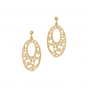 Earrings in silver 925 yellow gold plated - Fos