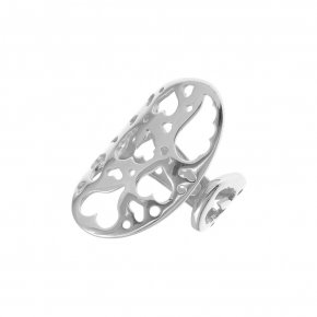 Ring Silver 925 rhodium plated - Fos