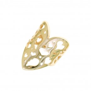 Ring Silver 925 yellow gold plated - Fos