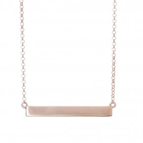 Necklace in silver 925 pink gold plated - WANNA GLOW