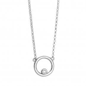 Necklace in silver 925 rhodium plated with white zirconia - WANNA GLOW