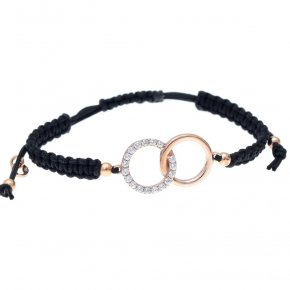 Bracelet in silver 925 pink gold plated with white zirconia - Simply Me