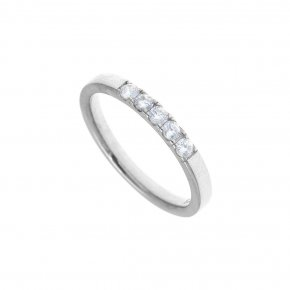 Ring in silver 925 rhodium plated with white zirconia - Simply Me