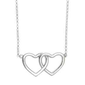 Necklace in silver 925 rhodium plated with white zirconia - Simply Me