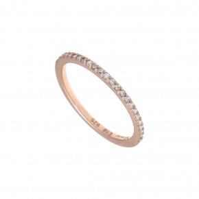 Ring silver 925 pink gold plated with synthetic stones - Genesis Jewellery