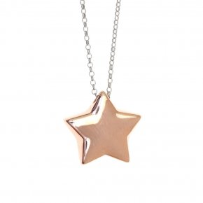 Necklace silver 925 pink gold plated - WANNA GLOW