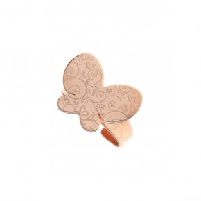 Ring silver 925 pink gold plated - Amvrosia
