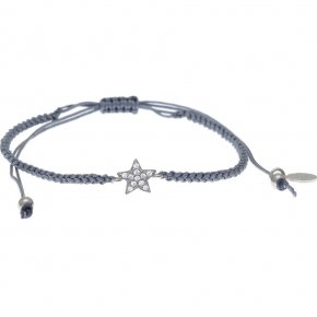 Bracelet in silver 925 rhodium plated with white zirconia - Simply Me