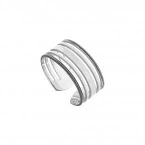 Ring silver 925 rhodium plated - Antanaklassis