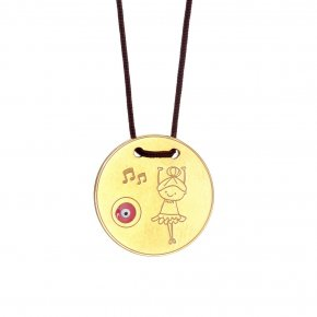 Necklace silver 925 gold plated with cord - Genesis Jewellery
