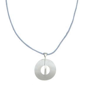 Necklace silver 925 rhodium plated with cord - Nemessis