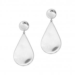 Earring 925 rodium plated - Eva