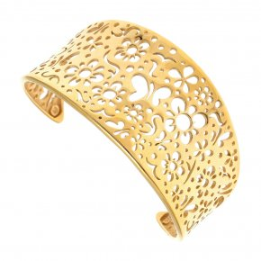 Bracelet silver 925 gold plated - Fos