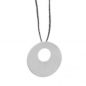 Necklace silver 925 rhodium plated with cord - Eva