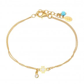 Bracelet silver 925 gold plated with synthetic stones - Genesis Jewellery