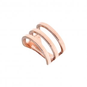 Ring silver 925 pink gold plated - Aura