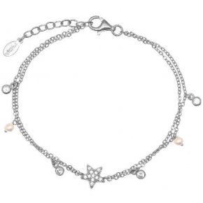 Bracelet silver 925 rhodium plating with white zirconia - Symbola