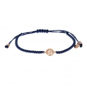 Cord Bracelet in silver 925 pink gold plated - Sirens