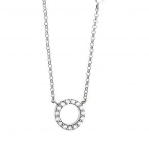 Necklace silver 925 rhodium plated with synthetic stones - Simply Me