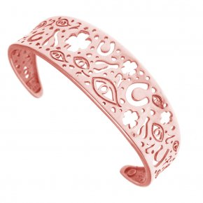 Bracelet silver 925 pink gold plated - Fos