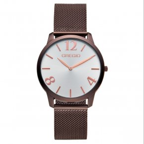 GREGIO Watch Simply Rose Milanese Brown Strap GR112054 - Simply Rose