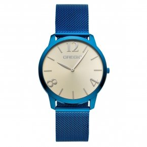 GREGIO Watch Simply Rose Milanese Blue Strap GR112052 - Simply Rose