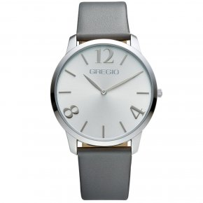 GREGIO Watch Simply Rose Grey Leather Strap GR112065 - Simply Rose
