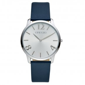 GREGIO Watch Simply Rose Blue Leather Strap GR112064 - Simply Rose