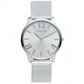 GREGIO Watch Simply Rose Milanese Silver Strap GR112012 - Simply Rose