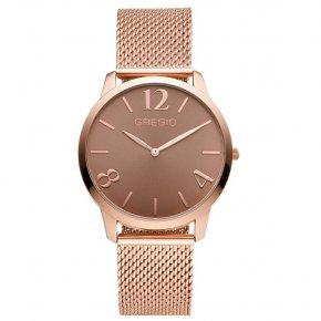 GREGIO Watch Simply Rose Milanese Rose Gold Strap GR112037 - Simply Rose